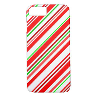 Candy Cane Stripes Christmas Red White Green iPhone 7 Case