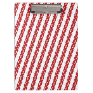 Candy Cane Stripes Clipboard