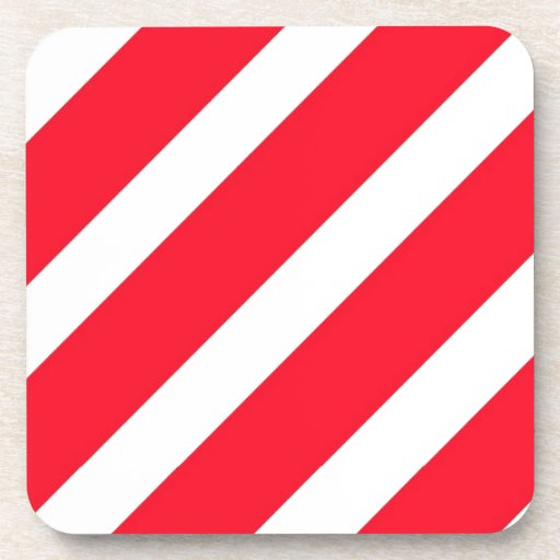Candy Cane Stripes Drink Coaster