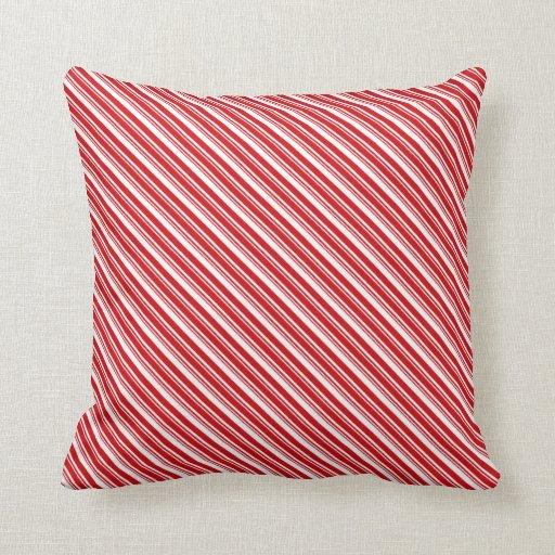 Candy Cane Stripes Pillows