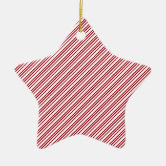 Candy Cane Stripes Ceramic Star Decoration