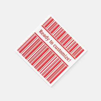 Candy Cane Stripes Disposable Serviettes