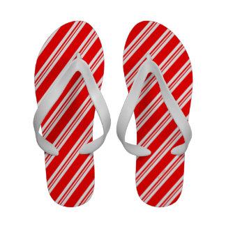 Candy Cane Stripes Flip Flops