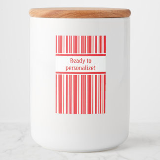 Candy Cane Stripes Food Label