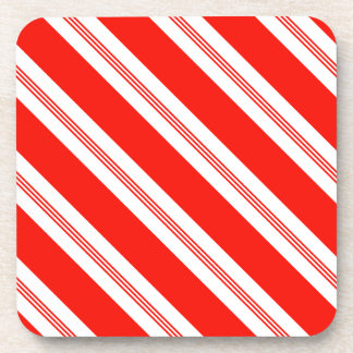 Candy Cane Stripes Holiday Pattern Drink Coaster