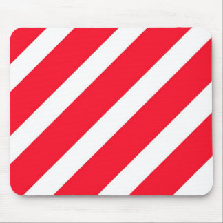 Candy Cane Stripes Mouse Pad