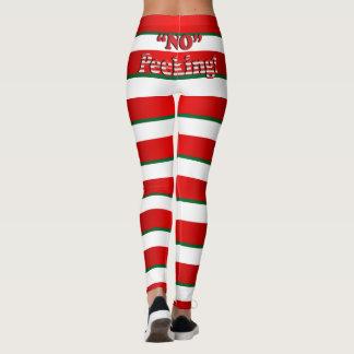 Candy Cane Stripes - No Peeking - Humor Leggings