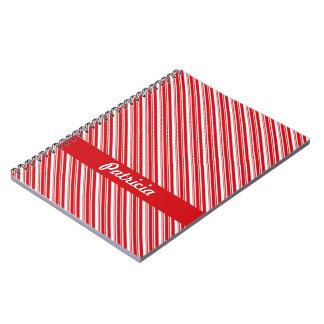 Candy Cane Stripes Spiral Notebook