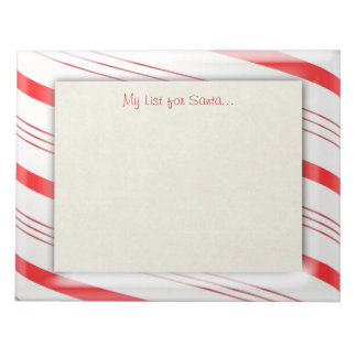 Candy  Cane Stripes Memo Notepad