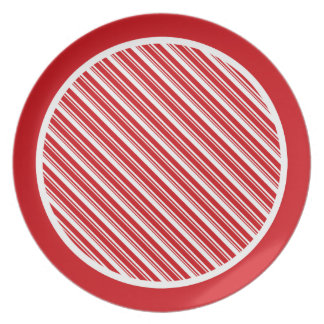 Candy Cane Stripes Party Plate