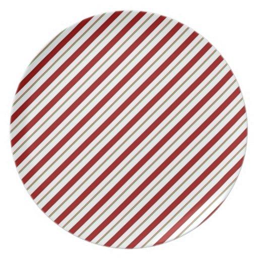 Candy Cane Stripes Plates