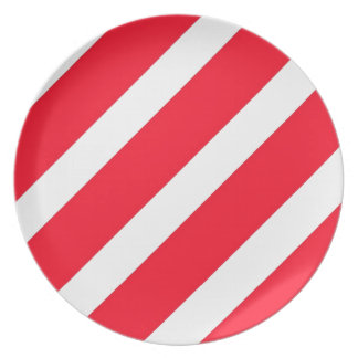 Candy Cane Stripes Plate