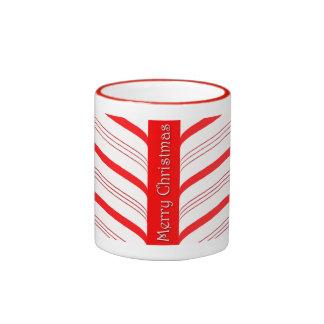 Candy Cane Stripes Ringer Mug