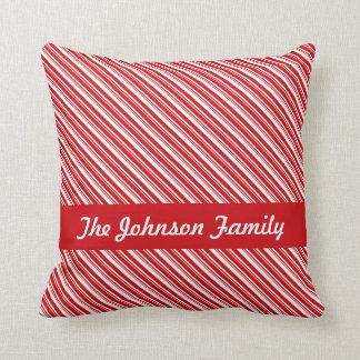 Candy Cane Stripes Throw Cushions