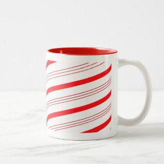 Candy Cane Stripes Two-Tone Mug