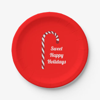 Candy Cane Sweet Holidays Paper Plates