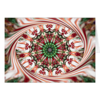 Candy Cane Swirl Wreath, Kaleidoscope Card