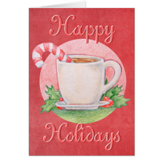 Candy Cane Tea Christmas Card