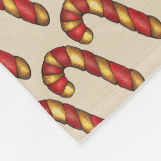 Candy Cane Twist Christmas Cookie Holiday Baking Fleece Blanket