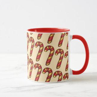 Candy Cane Twist Christmas Cookie Holiday Baking Mug