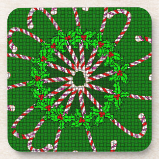 Candy Cane Weave Coaster