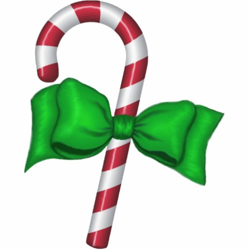 Candy Cane with Bow