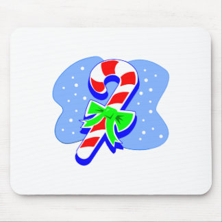Candy Cane with green bow Mousepad