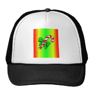 candy cane xmas trucker hats