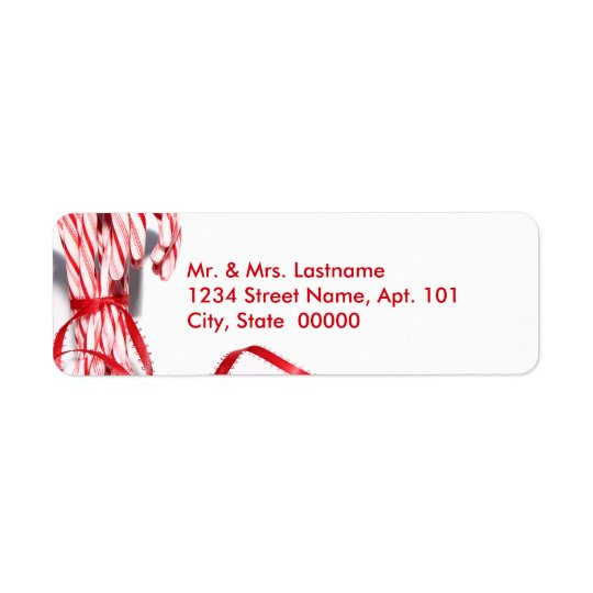 Candy Canes Address Labels