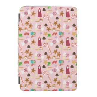Candy Canes and Chocolates on Pink iPad Mini Cover