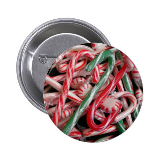 Candy Canes and Peppermints Button