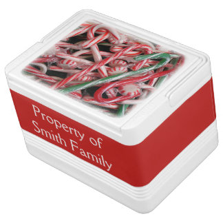 Candy Canes and Peppermints Christmas Holiday Cooler