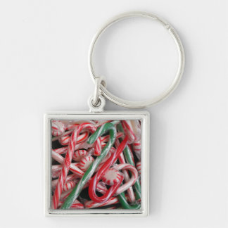 Candy Canes and Peppermints Keychain