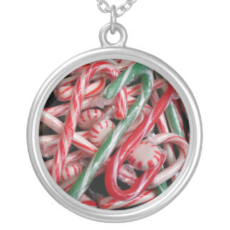Candy Canes and Peppermints Necklace