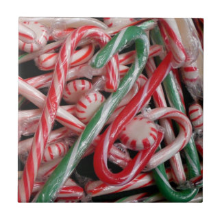 Candy Canes and Peppermints Tile