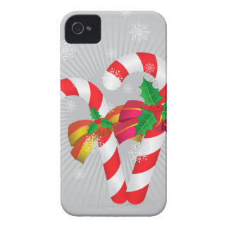 Candy canes background2 Case-Mate iPhone 4 case