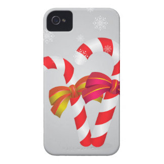 Candy canes background iPhone 4 case