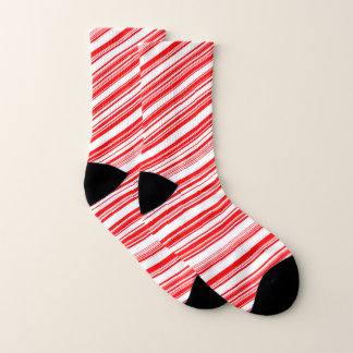 Candy Canes Christmas Holiday Peppermint 4Lenny Socks