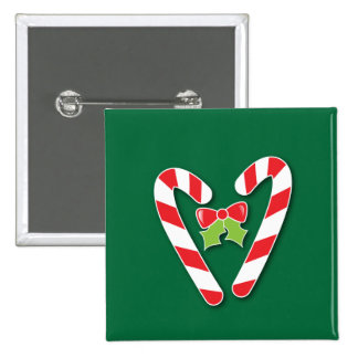 Candy Canes for Christmas 15 Cm Square Badge