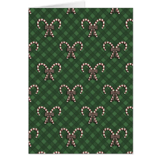 Candy Canes Holiday Pattern Greeting Card