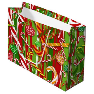 Candy Canes Large Gift Bag