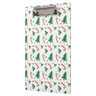 Candy Canes, Mistletoe, and Christmas Trees Clipboard