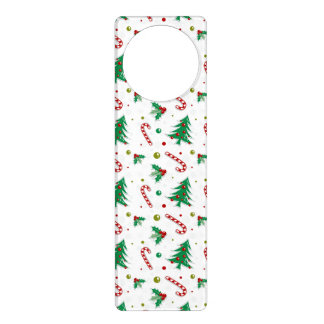 Candy Canes, Mistletoe, and Christmas Trees Door Knob Hangers
