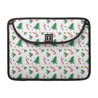 Candy Canes, Mistletoe, and Christmas Trees Sleeve For MacBooks
