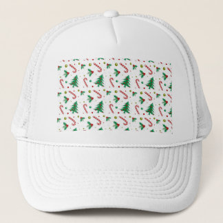 Candy Canes, Mistletoe, and Christmas Trees Trucker Hat
