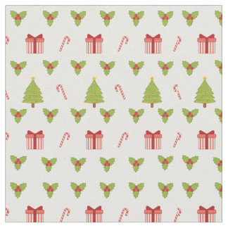Candy Canes, Mistletoe, Gifts, Trees Christmas Fabric