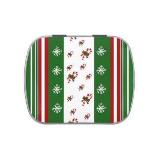 Candy Canes & Peppermint Stripes Candy Tin