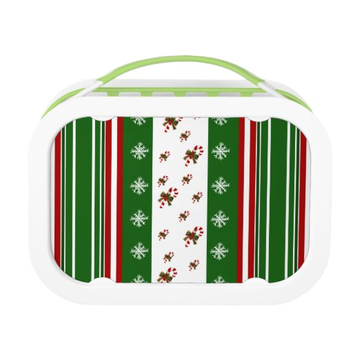 Candy Canes & Peppermint Stripes Yubo Lunchboxes