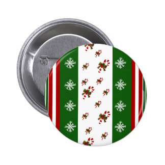 Candy Canes Peppermint Stripes Pinback Button