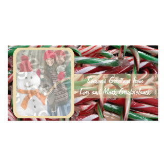 Candy Canes Photo Holiday Card Photo Card